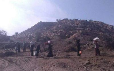 مَوجة نزوح كبيرة لعشرات الأُسَر في مناطق العود بالضالع هرباً من ظلم المليشيات الحُوثية وإنتهاكاتها