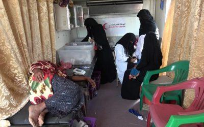 الهلال الأحمر الإماراتي يرسل عيادات متنقلة إلى النجيبة بالساحل الغربي ضمن استجابة عاجلة لمواجهة وباء حمى الضنك