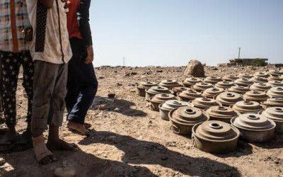 فرق الهندسة في الشرطة العسكرية تنزع ألغام حوثية من مناطق متفرقة غربي قعطبة بالضالع