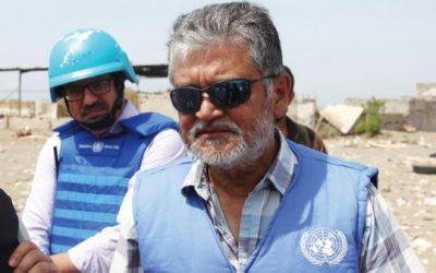 كبير مراقبي الأمم المتحدة يعقد إجتماعين مع الفريق الحكومي وضباط الإرتباط عقب وصوله إلى المخأ