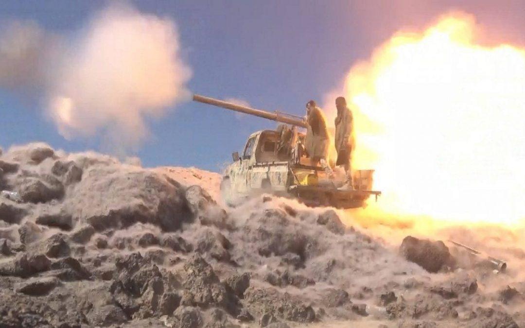 معارك عنيفة تزامنت مع سلسلة غارات جوية استهدفت مواقع وتجمعات حوثية بالجوف