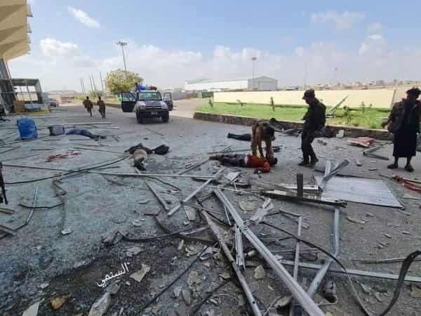 الصحة اليمنية: (22) قتيلا وأكثر من (50) جريحا جراء تفجير المطار