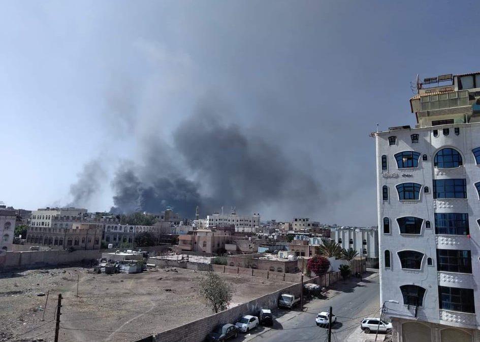 تسع غارات جوية شنها طيران التحالف ضد أهداف عسكرية حوثية في صنعاء