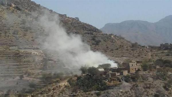 قصف حوثي عشوائي استهدف بلدة المشاريح في الضالع