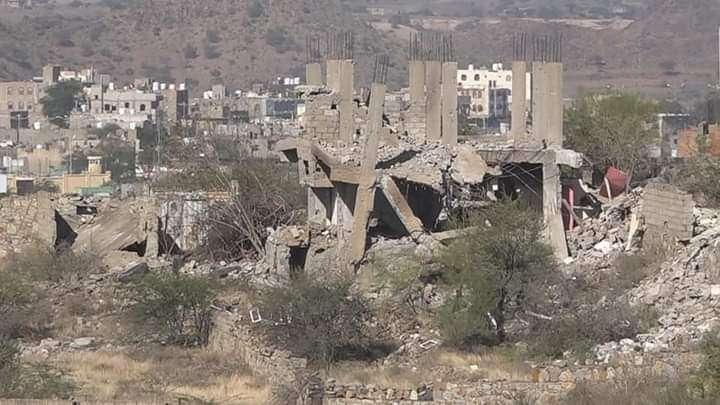 ستة عشر منزل تعود لمدنيين فجرتها ميليشيا الحوثي الإرهابية في النصف الادأول من العام الجاري
